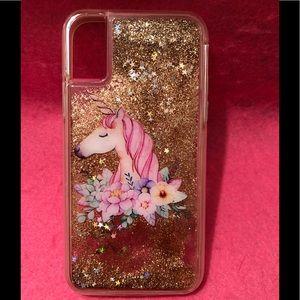 Unicorn Glitter iPhone X/XS Case